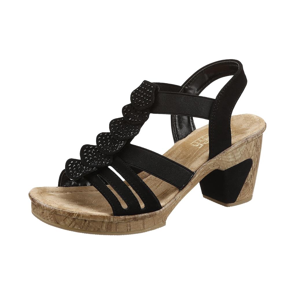 Rieker Sandalette, mit glitzernden Strass-Steinchen