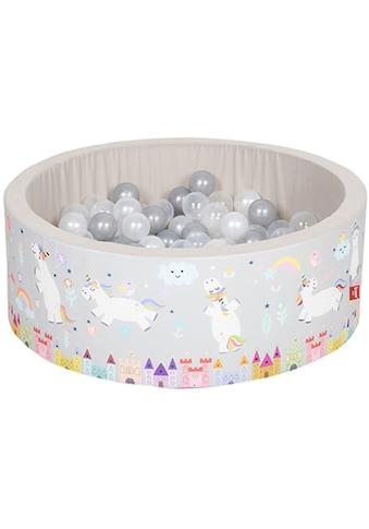 Knorrtoys® Bällebad »Soft, Unicorn grau«, mit 150 Bällen grau/weiss/transparent; Made... kaufen