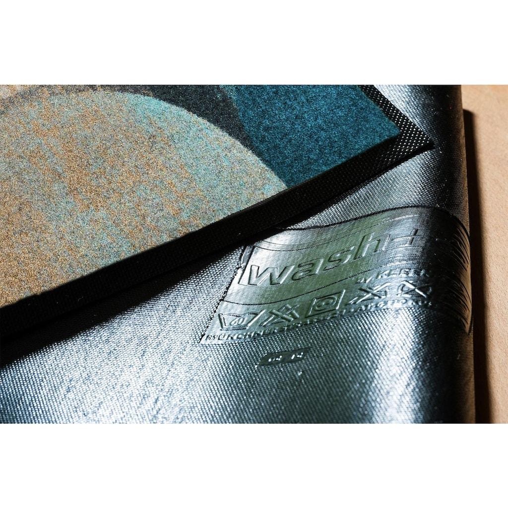 wash+dry by Kleen-Tex Fussmatte »Galaxia«, rechteckig, 7 mm Höhe, Schmutzfangmatte, waschbar