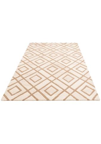 Leonique Teppich »Temel«, rechteckig, 14 mm Höhe, Wollteppich, Wohnzimmer kaufen