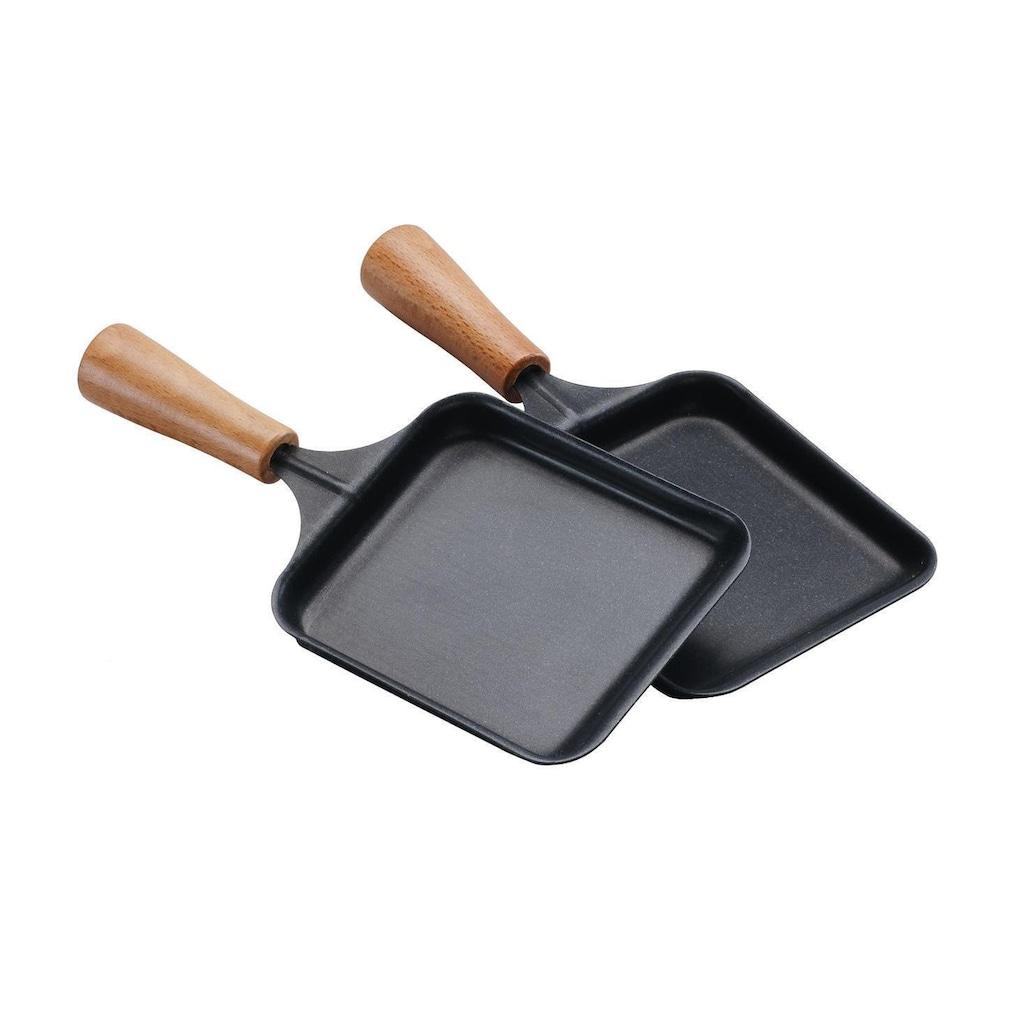 Raclette »Raclette-Pfännchen mit Holzgriff«, 2 St. Raclettepfännchen, - W