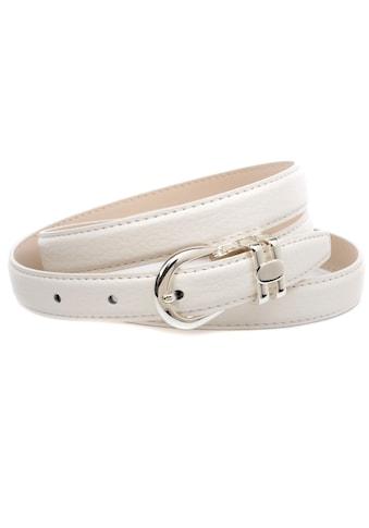 Anthoni Crown Ledergürtel, Schmaler Ledergürtel in weiss kaufen