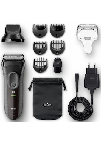 Braun Elektrorasierer »Series 3 3000BT«, 5 St. Aufsätze, Langhaartrimmer, Shave&Style 3-in-1 kaufen