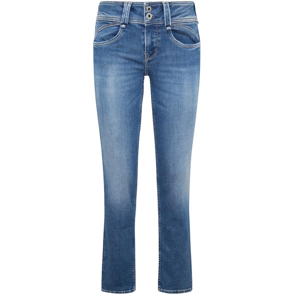 Pepe Jeans Straight-Jeans »NEW GEN«, mit 1-Knopf Bund im Komfort-Stretch-Denim