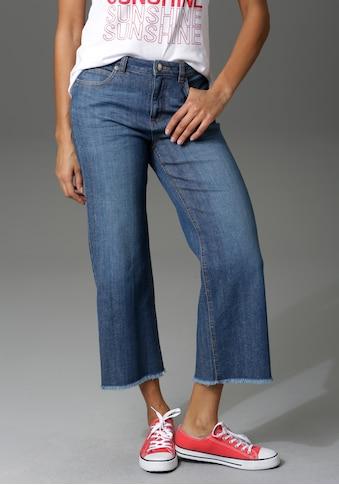 Aniston CASUAL 7/8-Jeans, mit leicht ausgefranstem Beinabschluss - NEUE KOLLEKTION kaufen