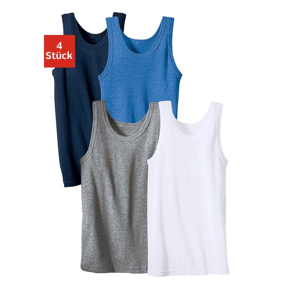Unterhemd, (4 St.), schlichtes Basic aus Feinripp