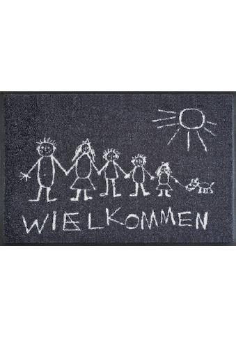 wash+dry by Kleen-Tex Fussmatte »Wielkommen«, rechteckig, 9 mm Höhe, Schmutzfangmatte,... kaufen