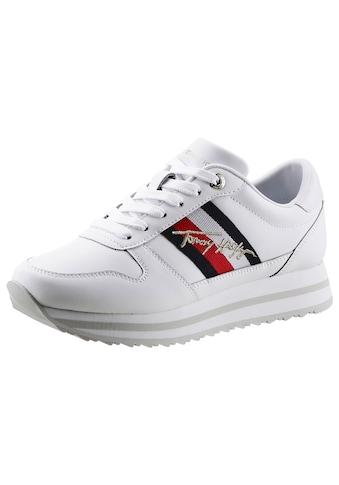Tommy Hilfiger Keilsneaker »TH SIGNATURE RUNNER SENAKER«, mit Tommy Hilfiger-Signatur kaufen