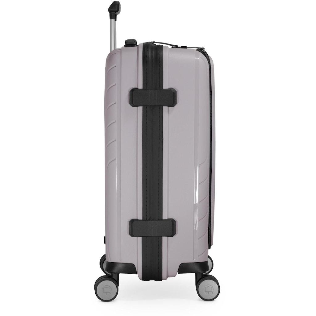 Hauptstadtkoffer Hartschalen-Trolley »TXL, Vintage Silber, 55 cm«, 4 Rollen, mit gepolstertem Laptopfach