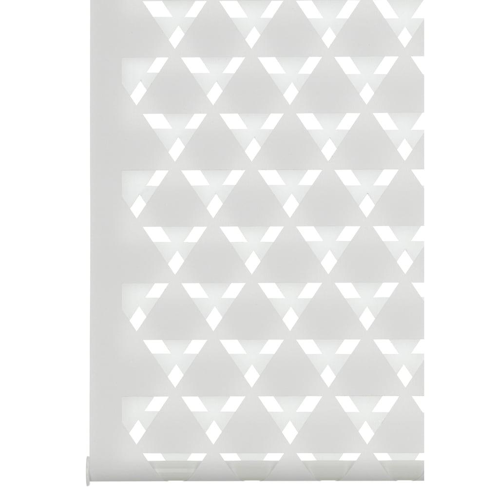 GARDINIA Doppelrollo »EASYFIX Duo Rollo Cut-Out Dreieck«, Lichtschutz, ohne Bohren, im Fixmass