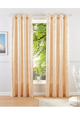 Guido Maria Kretschmer Home&Living Vorhang »Gian«, blickdicht, bedruckter Samt kaufen