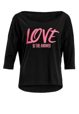 Winshape 3/4-Arm-Shirt »MCS001 ultra leicht«, mit Neon pinkem Glitzer-Aufdruck kaufen