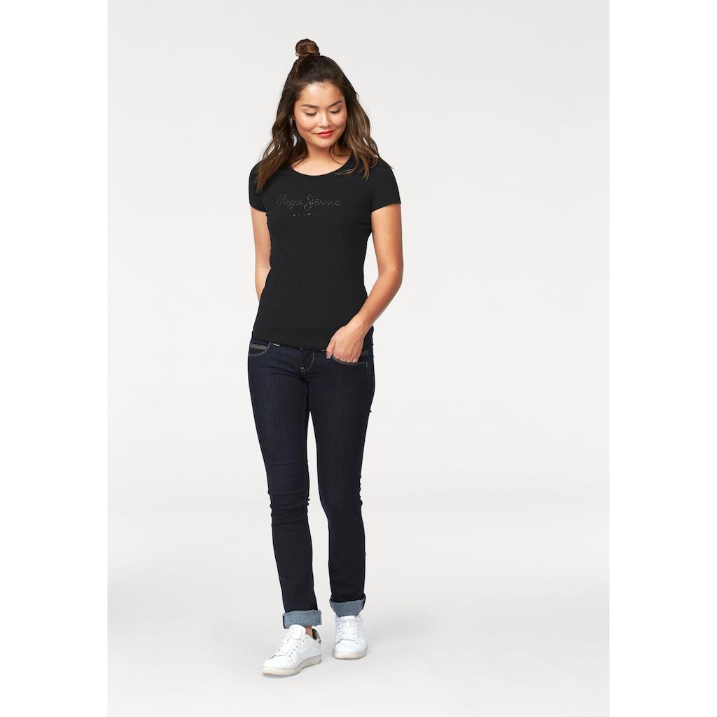 Pepe Jeans Straight-Jeans »VENUS«, mit 2-Knopf Bund und doppelter Gesässtasche