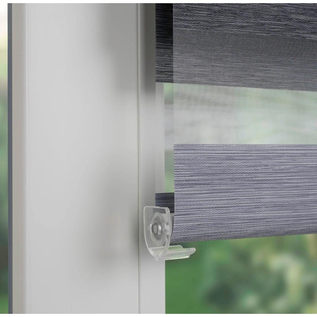 SCHÖNER WOHNEN-Kollektion Doppelrollo »Klemmfix-Doppelrollo«, Lichtschutz, ohne Bohren, freihängend