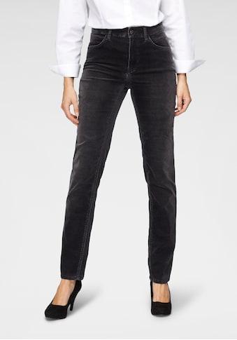 MAC 5-Pocket-Jeans »Melanie Velvet«, Klassischer Jeansschnitt in gewaschener... kaufen