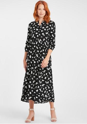 b.young Blusenkleid »BYISOLE LONG«, A-Linienkleid mit floralem Muster kaufen