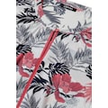 Olsen Print-Shirt, mit tropischem Allover-Druck und Stehkragen