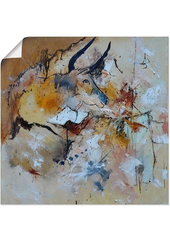 Artland Wandbild »Abstrakt Stier«, Wildtiere, (1 St.), in vielen Grössen &... kaufen