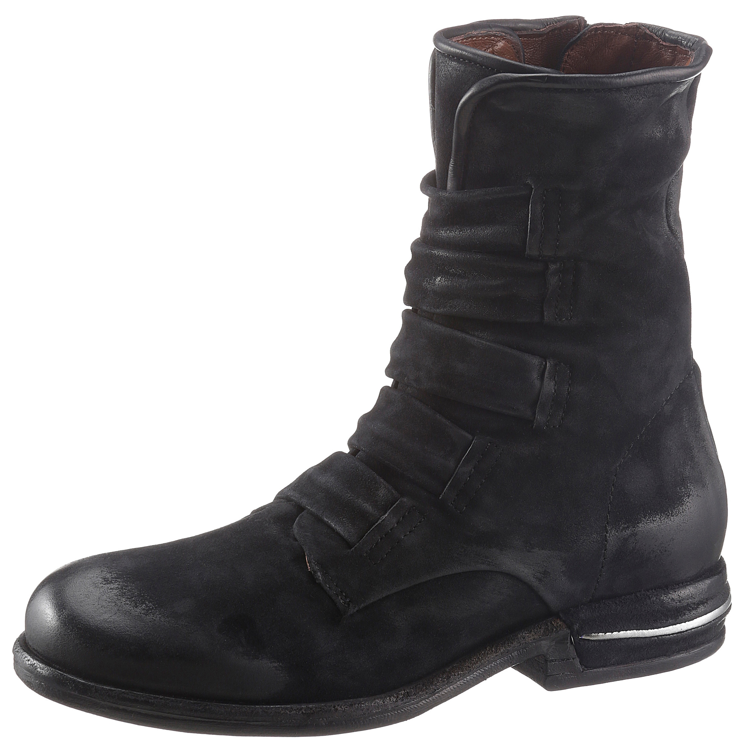 Image of A.S.98 Bikerboots »TEAL«, in coolen Used Look