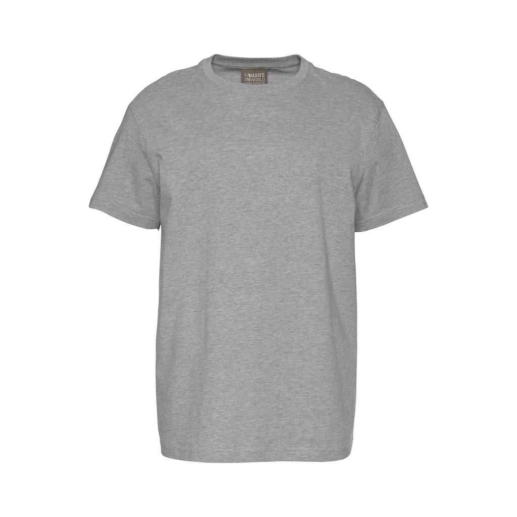 Man's World T-Shirt, Basic T-Shirt mit trageangenehmer Qualität