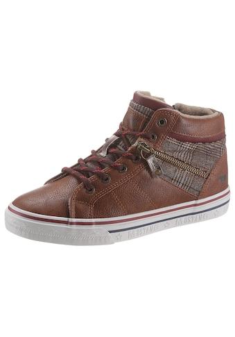 Mustang Shoes Sneaker, mit kariertem Textileinsatz kaufen