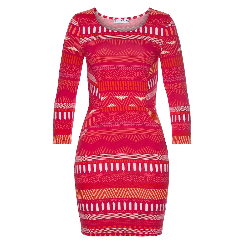 AJC Jerseykleid, mit Ethno und Ikat Muster