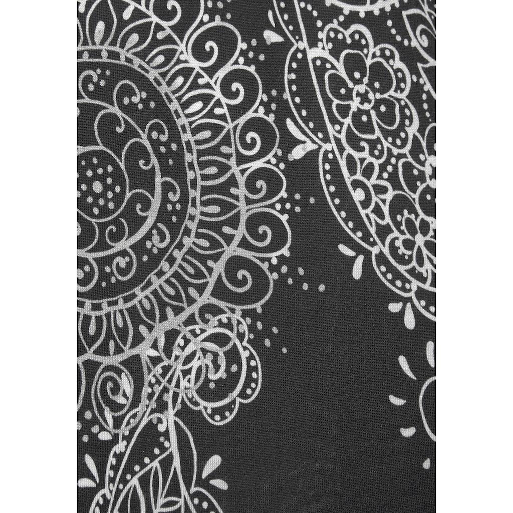 Vivance Dreams Nachthemd, im schwarz-weißen Paisley-Dessin