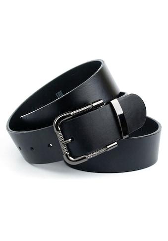 Anthoni Crown Ledergürtel, mit Schliesse in Schwarz Metallic kaufen