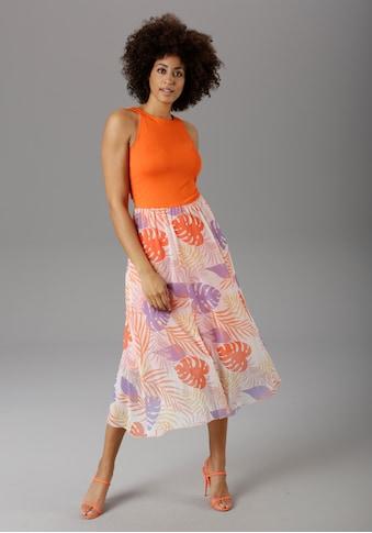 Aniston SELECTED Sommerkleid, in modischer Knallfarbe kaufen