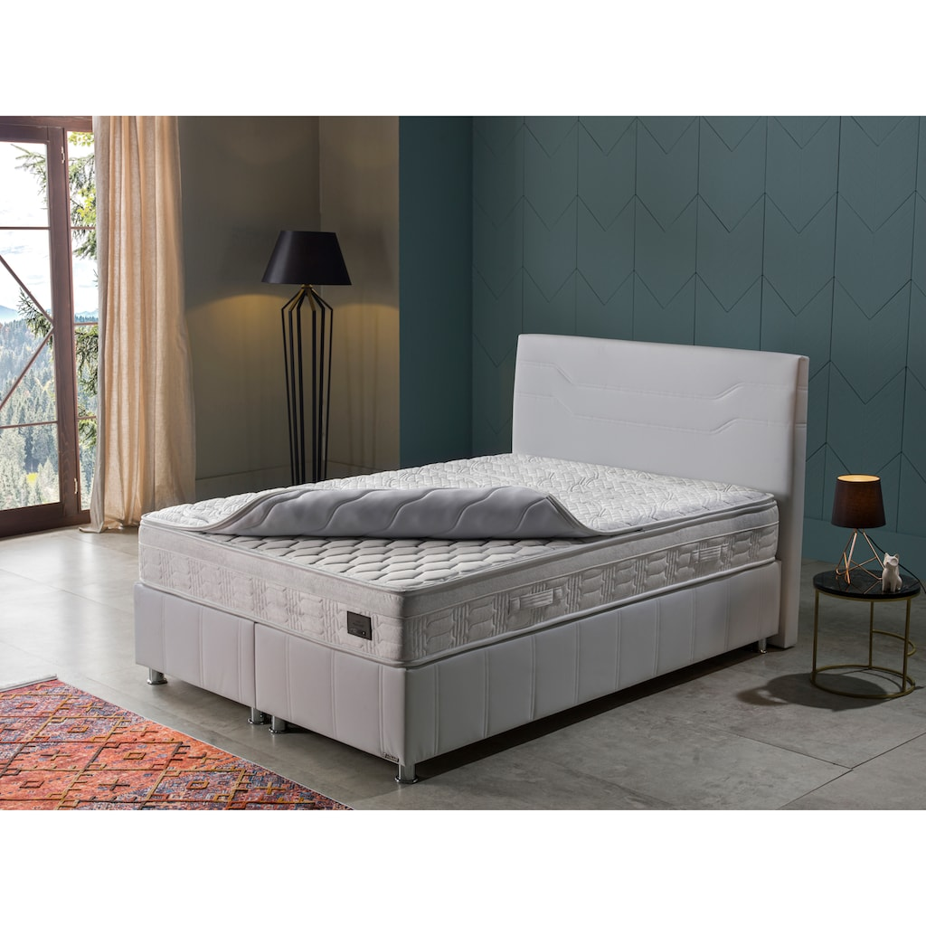 İSTİKBAL Bonnellfederkernmatratze »New Relax Sleep«, 418 Federn, (1 St.), abnehmbarer Komfortschaumtopper mit hochwertigem Viskose-Bezug