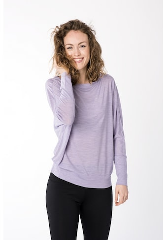 SUPER.NATURAL Fledermausshirt »W KULA TOP«, bequemer Merino-Materialmix kaufen