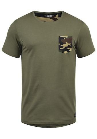 Solid Rundhalsshirt »Calvin«, Kurzarmshirt mit Brusttasche im Tarnmuster-Look kaufen