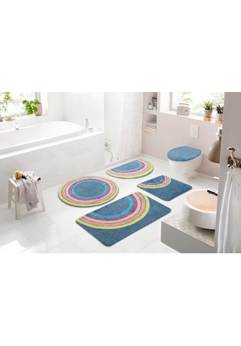 my home Badematte »Regenbogen«, Höhe 12 mm, strapazierfähig, besonders weich durch... kaufen