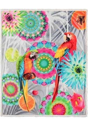 hip Plaid »Kjenta«, mit Mandalas und Papageien kaufen