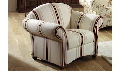 Max Winzer® Sessel »Carolina«, mit Holz-Kugelfüssen kaufen