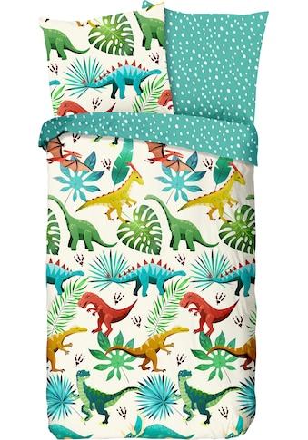 good morning Kinderbettwäsche »Dinos«, mit Dinosauriern bedruckt kaufen