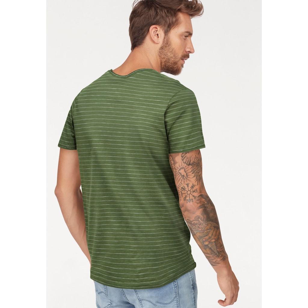 SELECTED HOMME T-Shirt »MORGAN STRIPE O-NECK TEE«