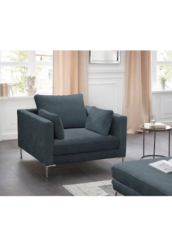 Alte Gerberei Sessel »Marinus«, mit schmalen Lehnen, inklusive Rückenkissen kaufen
