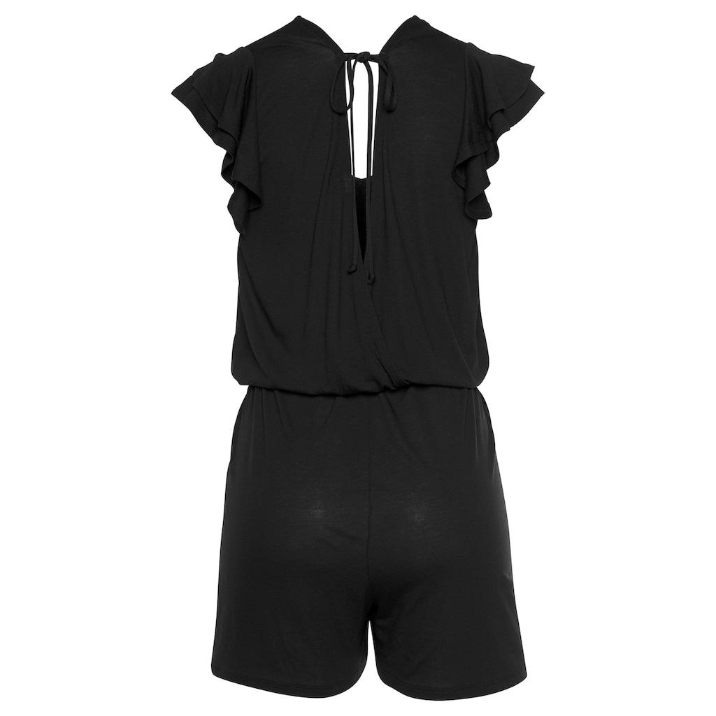s.Oliver Beachwear Kurzoverall, mit tiefem Rückenausschnitt