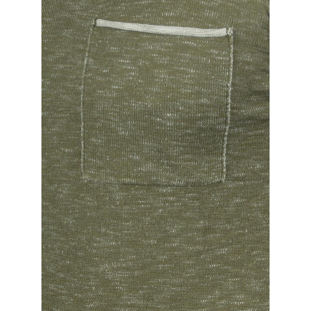 REDEFINED REBEL Rundhalspullover »Maverick«, Strickpulli mit farblich abgesetzten Rollkanten