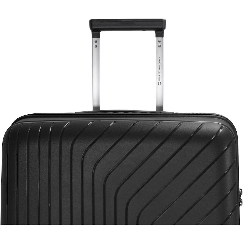 Hauptstadtkoffer Hartschalen-Trolley »TXL, 66 cm, schwarz«, 4 Rollen