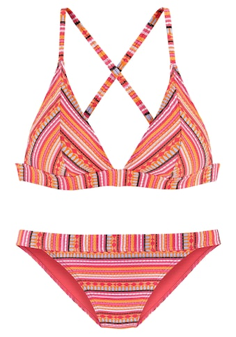 LASCANA Triangel-Bikini, mit glitzernden Streifen kaufen