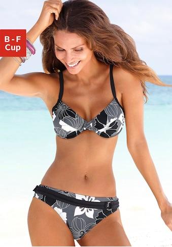LASCANA Bügel-Bikini, mit Blumenprint kaufen