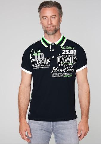 CAMP DAVID Poloshirt, mit auffälligen Details kaufen