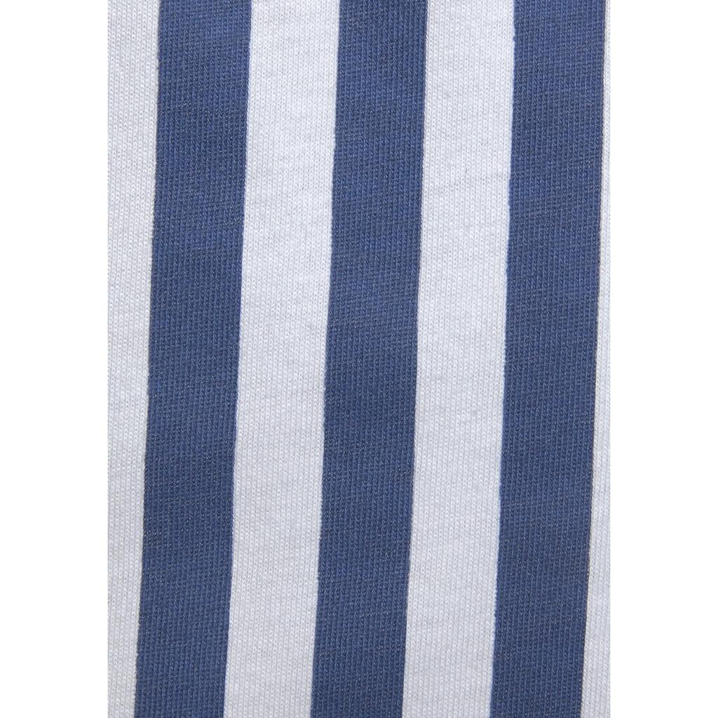 H.I.S Nachthemd, in klassischem Schnitt mit Streifenmuster