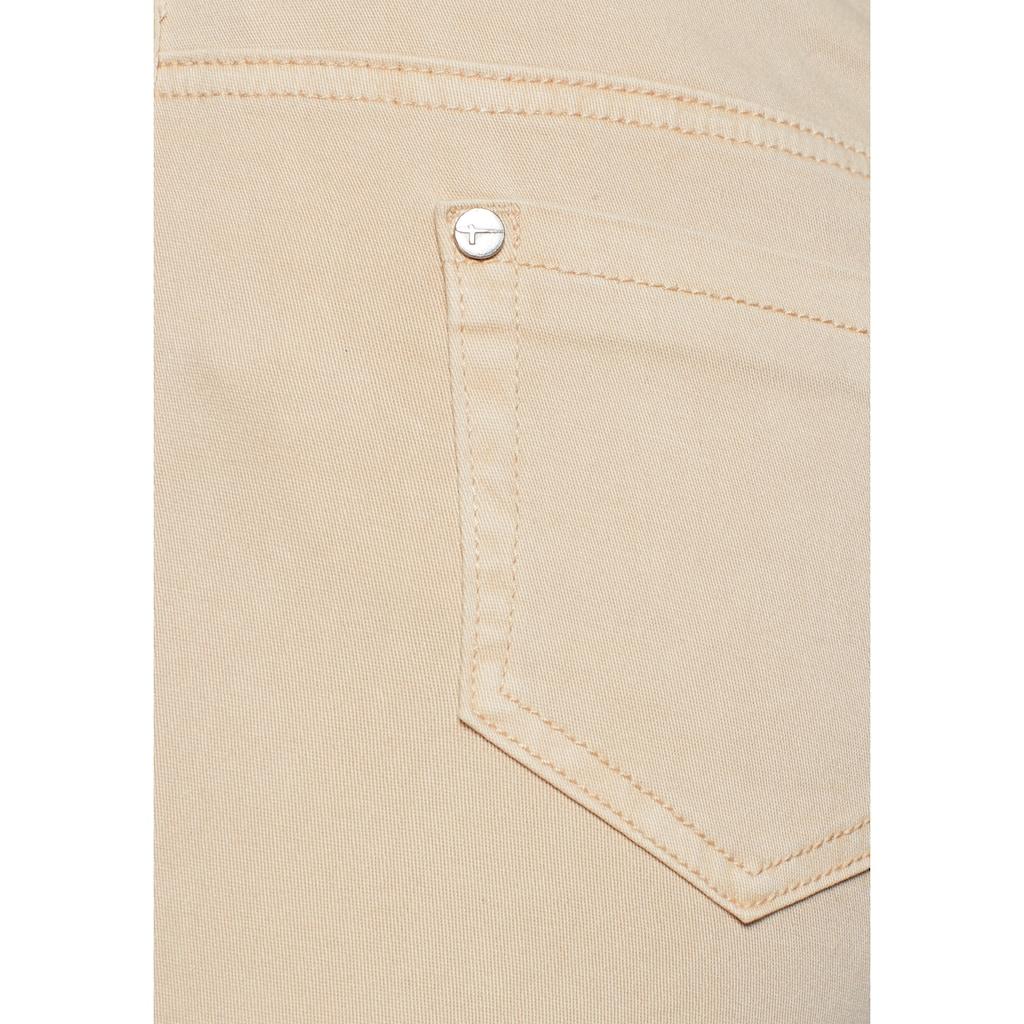 Tamaris Röhrenhose, mit Galonstreifen und Zipperdetails