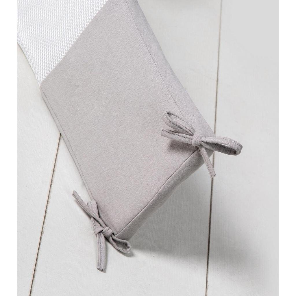 roba® Bettnestchen »Air PLUS safe asleep®, Jersey Grau«
