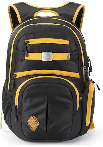 NITRO Schulrucksack »Hero, Goldfarbenen Black«, mit Laptopfach kaufen