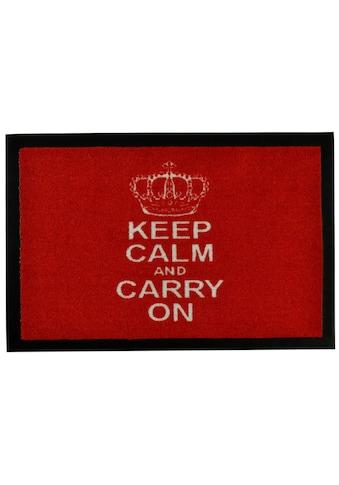 HANSE Home Fussmatte »Keep Calm«, rechteckig, 7 mm Höhe, Schmutzfangmatte, mit Spruch kaufen