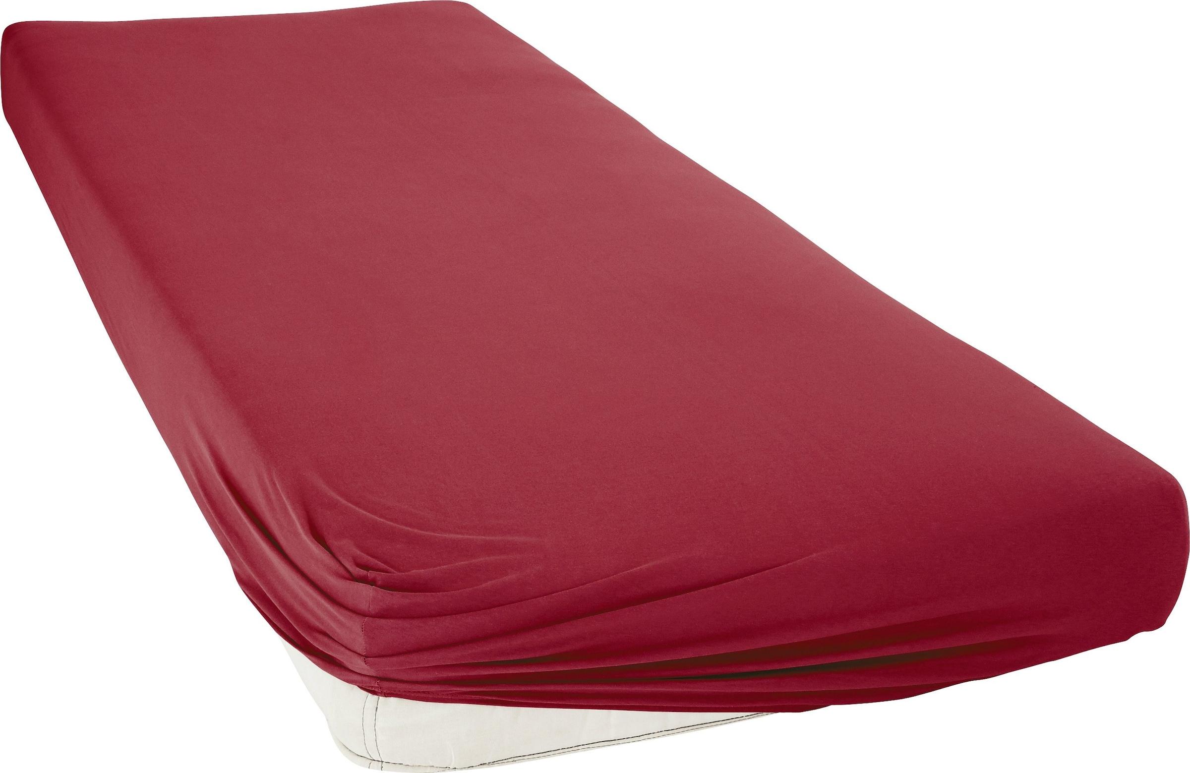 Image of bellana Spannbettlaken »Premium-Stretch«, aus Mako-Jersey mit Elasthan für hohe Matratzen